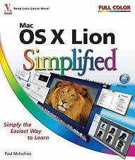 Mac OS X Lion Simplified, McFedries, Paul, Good Condition, Book