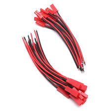 100mm Connector JST Cable Plug Line Male+Female For RC BEC Lipo Battery 10 Pairs