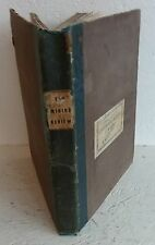 Vintage Book 1838 Mining Review Journal Henry English Geology Minerals Metals