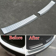 2x Rear Trunk Rear Bumper Door Sill Plate Guard Protector Cover For CX-5 12-2015