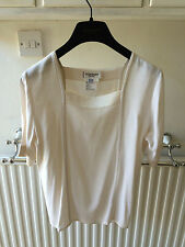 FAB CREAMY YVES ST LAURENT SILKY BLOUSE SIZE 12US -  Best Offer - FREE POST!!