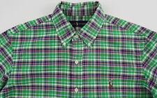 Men's RALPH LAUREN Green Colors Oxford Plaid Shirt XLT XLarge TALL NWT NEW Nice!