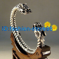 Hot! Fashion Jewelry Tibet Tibetan Silver Double Dragon Amulet Bracelet