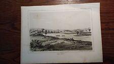 """Lithograph of """"SAUK RIVER"""" /John Mix Stanley / 1860 Railroad Survey Report"""