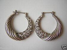 Schöne Creolenförmige Ohrringe aus 925 Silber 7,5 g / 2,5 x 2,4 cm Silberschmuck