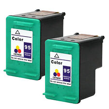 2PKs HP 95 Color Ink Cartridges For Photosmart 2605 2608 2610 1710xi C8766WN