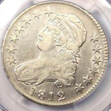 1812 Capped Bust Half Dollar 50C Coin - Certified PCGS VF25 - Rare - Looks XF!