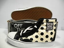 VANS NATIVE AMERICAN HI SKATE MEN/WOMEN SHOES WHITE/BLACK 5539799 SIZE 5.5 7 NEW