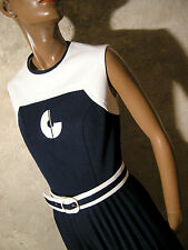 CHIC VINTAGE ROBE 1960 VTG DRESS 60s MOD TWIGGY SPACE AGE KLEID 60er ABITO (38)