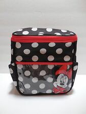 Minnie Mouse Baby Mini Small Diaper Bag Blk/Red Polka Dot Lunchbox Travel Tote