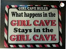 WHAT HAPENS IN THE GIRL CAVE STAYS IN THE GIRL CAVE, DOOR SIGN, KIDS ROOM DECOR
