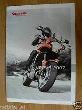 K139 KAWASAKI  BROCHURE PROSPEKT FOLDER VERSYS 2007  DUTCH 8 PAGES