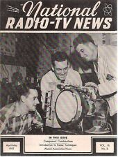 NATIONAL RADIO-TV NEWS April-May 1952 technical newsletter