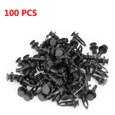 Qty(100) Black Front Bumper Cover Retainer Push Type Clip Fastener For Toyota