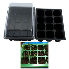 Useful 12 Cells Hole Plant Seeds Grow Box Tray Propagation Cloning Case