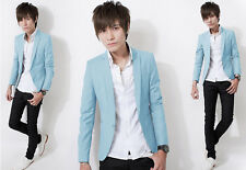 New Wholesale Mens Casual Suits Chic Button Slim Fit Blazers Boy Jackets Outwear