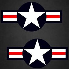 "2 - 22""x45"" USAF Aircraft Insignia Sticker Military Decal Air Force Pilot Vet"