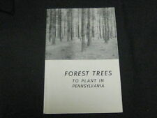 Forest Trees to Plant in Pennsylvania 1960s Booklet