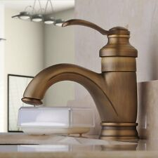 Centerset Single Handle Antique Brass Bathroom Vanity Sink Lavatory Faucet Tap