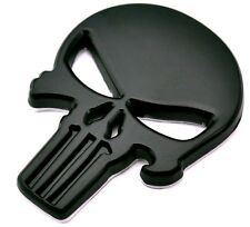 Punisher Scull Black Car Sticker aus Metal selbstklebend Death Head Bike Auto