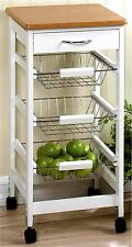 KITCHEN SIDE TABLE TROLLEY ** Extra Counter Storage & Drawer **NIB