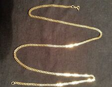 "18K Solid Yellow Gold Cuban Curb Link Chain Necklace 20"" 10.88 Grams"
