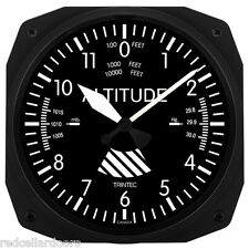 "New Trintec 10"" Classic Altitude Altimeter Aviation Square Clock Aviator"