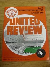 03/04/1972 Manchester United v Liverpool  (Creased). Thanks for viewing our item