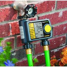 Automatic 2-Outlet Hose Sprinkler Timer Watering System Faucet Garden Lawn Drip