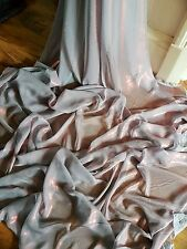 """1M SHIMMER  TWO TONE silver grey /shot of red  DRESS CHIFFON FABRIC 58"""" WIDE"""