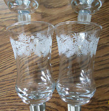 New Home Interiors & Gifts WINTER PINE 4 Votive Glass 5616 DI made in USA