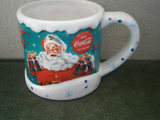 Collectible 2004 Coca Cola Santa Large Mug - Houston Harvest Gift Products