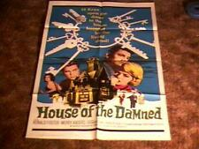 HOUSE OF DAMNED ORIG MOVIE POSTER HOROR  1963