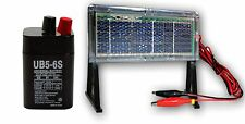 UPG 6VOLT 5AMP HOUR SEALED RECHARGEABLE SLA BATTERY 6V 5AH & SOLAR PANEL CHARGER