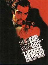 TIMOTHY DALTON LICENCE REVOKED LICENSE TO KILL JAMES BOND 007 SPY POSTER REPRINT