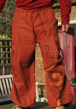 UNISEX SUNSET BOHO HAREM ALADDIN HIPPIE TROUSERS PANTS. UK SELLER