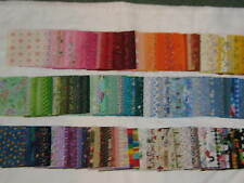 """Beautiful lot of  200-4"""" cotton quilt squares -fabrics from 50's to today!"""