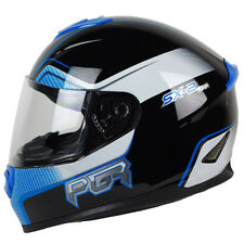 S M L XL XXL PGR ST01 SX BLACK BLUE Motorcycle Full Face Helmet DOT Street Bike