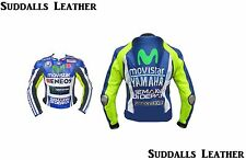 YAMAHA VALENTINO ROSSI MOTORCYCLE LEATHER RACING JACKET FULL BODY PROTECTION