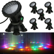 5 x Multicolor 36 LED Underwater Spot Light For Water Aquarium Garden Fish Pond