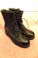 Addison Black Leather Steel Toe Work Combat Safety Boots 7 1/2 W Quite Good