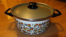 National Silver Company Country Village Dutch Oven Porcelain Cookware Spain