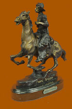 RARE FREDERIC REMINGTON TROOPER OF THE PLAINS BRONZE STATUE FIGURE FIGURINE DEAL