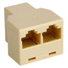 1 to 2 Sockets RJ45 CAT 5 6 LAN Ethernet Splitter Connector Adapter US