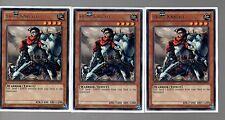 Cartas Yugioh-Conjunto de juego de la tarjeta de 3 - 3x Plata raro polvo Caballero Soldado-EN034