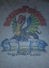 The Rolling Stones Dragon Tongue tour concert 2XL Blue T-Shirt lips 80s jagger