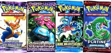 ① 4 BOOSTERS de CARTES POKEMON Neuf Aucun double en FRANCAIS (Lot N° AAD)