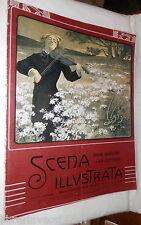 SCENA ILLUSTRATA 15 novembre 1906 Anichini Eleonora Duse Bella Otero Rodope di