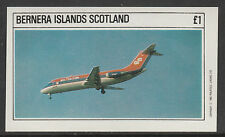 GB Locals - Bernera 2791 - 1982 AIRCRAFT - AIRLINERS imperf souvenir sheet  u/m
