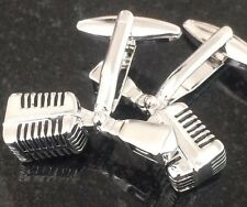 Elvis Presley Vintage 1950s Microphone Cufflinks RCA Free Gift Pouch